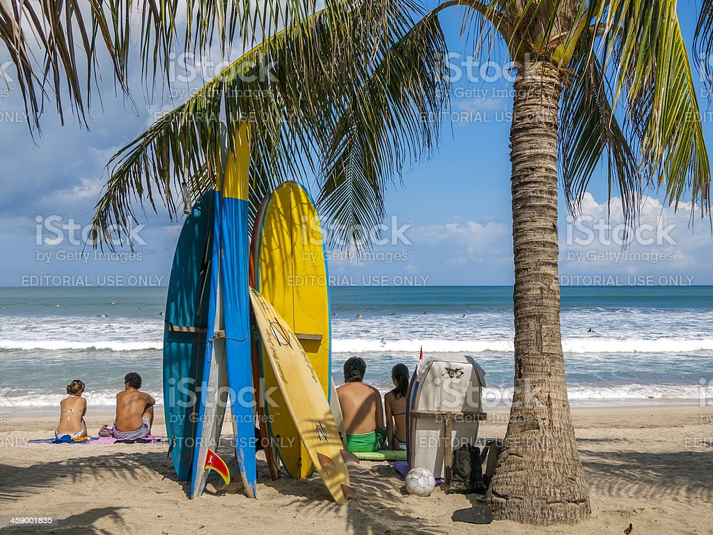 Kuta Beach Scene, Bali stock photo