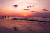 Kuta Beach sunset with Bali