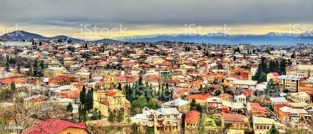 Kutaisi, the second largest city of Georgia stock photo