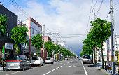Kutchan small town on hokkaido, Japan