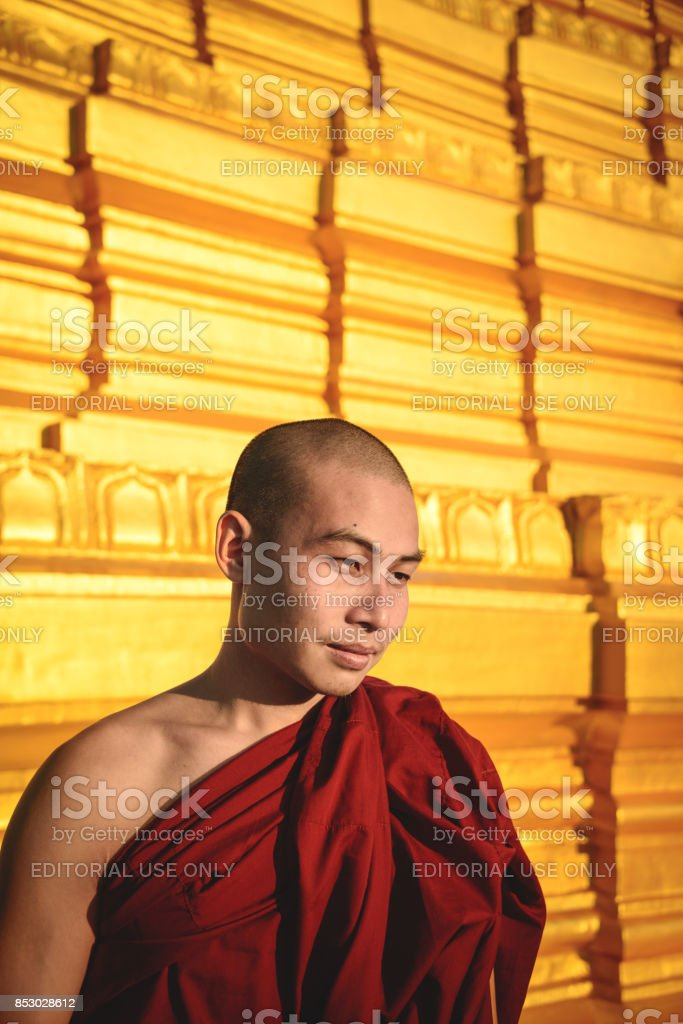 Kuthodaw monk stock photo