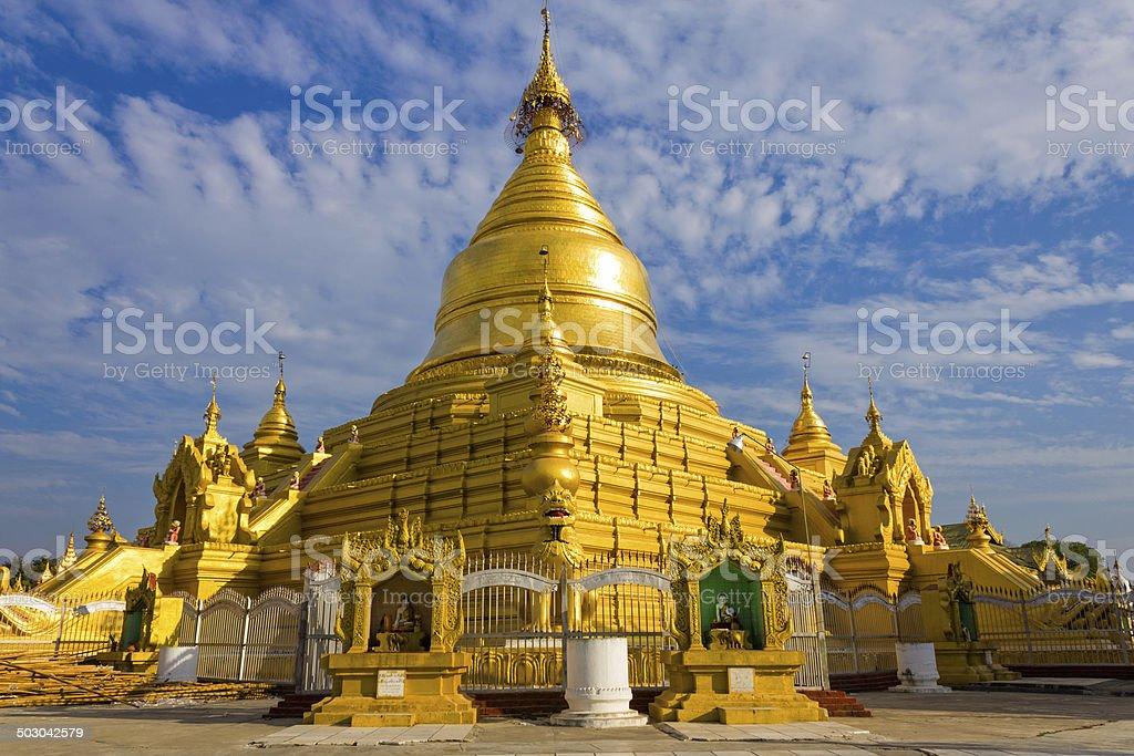 Kuthodaw Pagoda, Mandalay, Myanmar stock photo