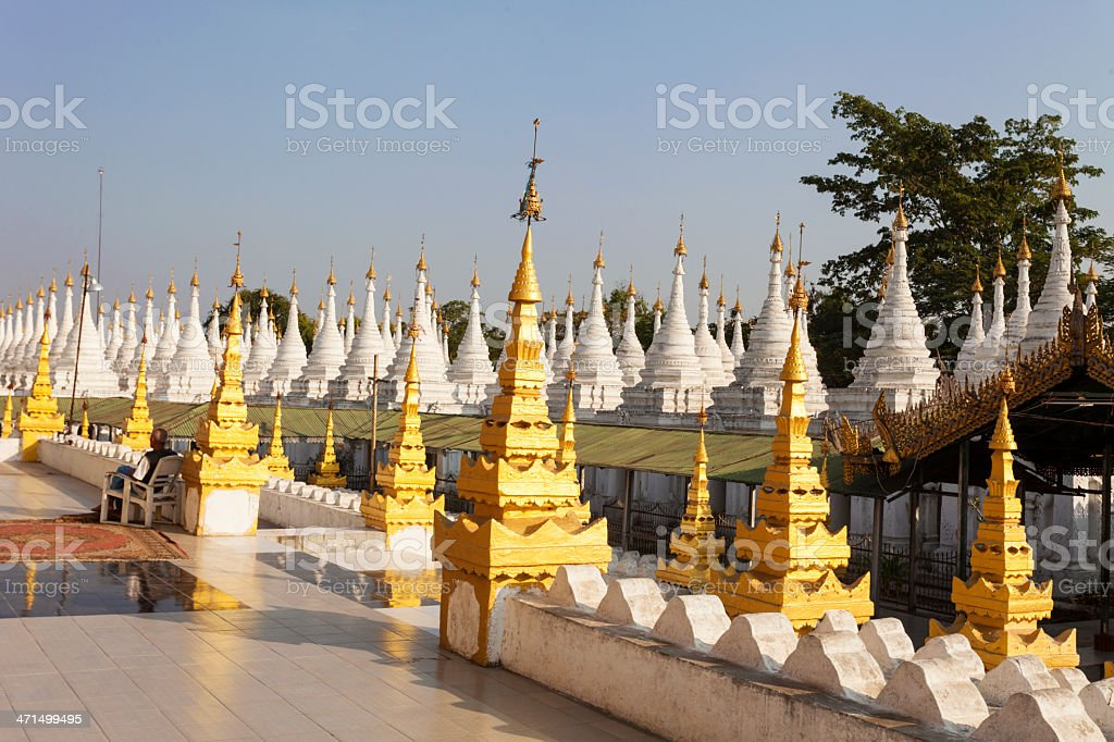 Kuthowdaw Pagoda with 'The largest book in the world'. royalty-free stock photo