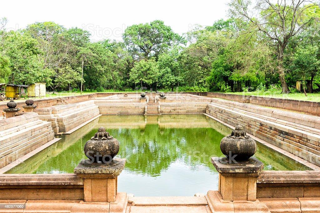 Kuttam Pokuna in Sacred city of Anuradhapura stock photo