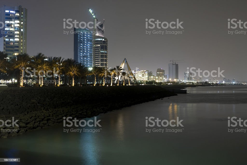 Kuwait Bay stock photo
