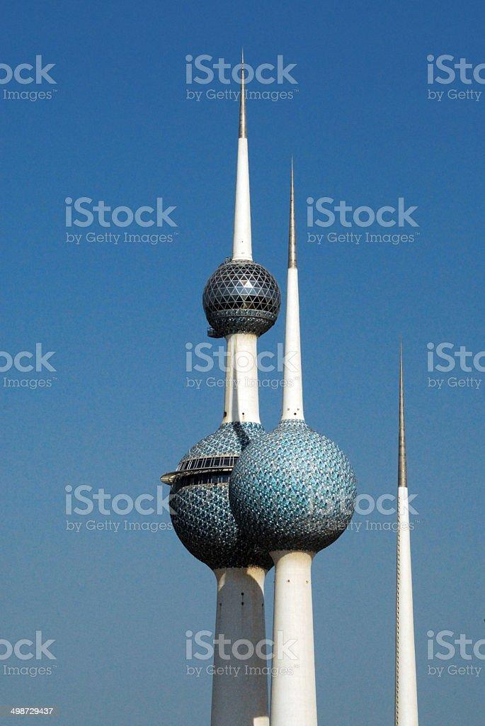 Kuwait City: Kuwait towers stock photo