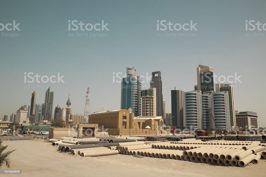 kuwait city skyline royalty-free stock photo