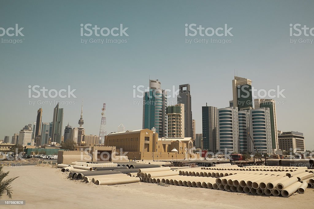 kuwait city skyline stock photo