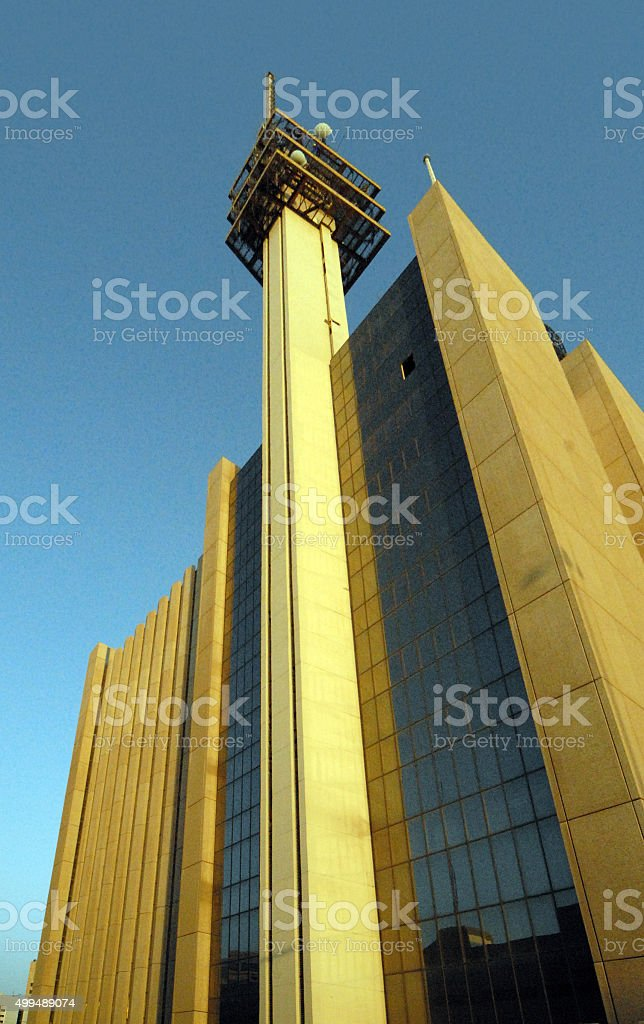 Kuwait city:  Telecommunications building stock photo