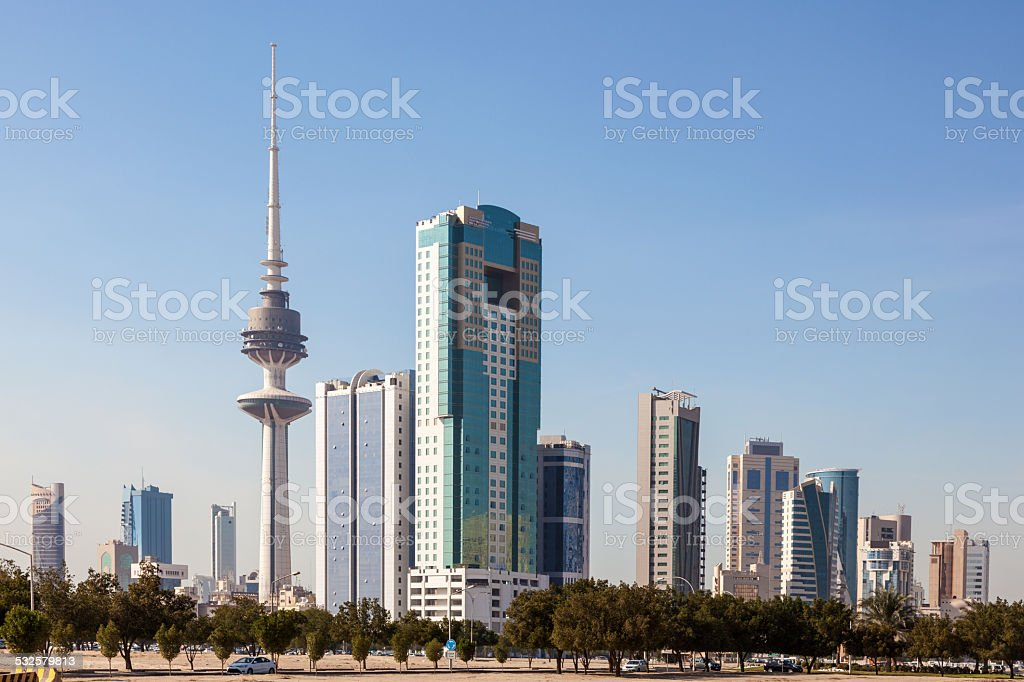 Kuwait Downtown Skyline stock photo