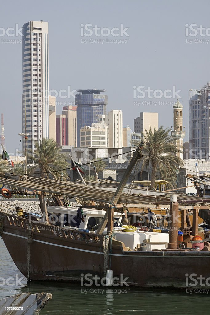 Kuwait fishmarket royalty-free stock photo