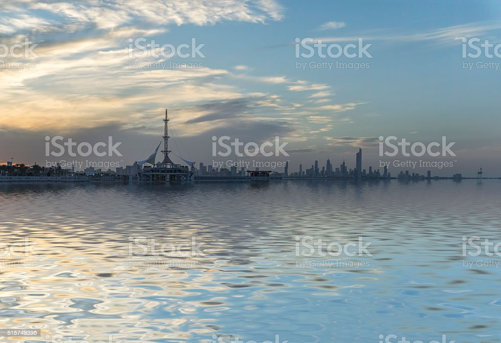 Kuwait Marina stock photo
