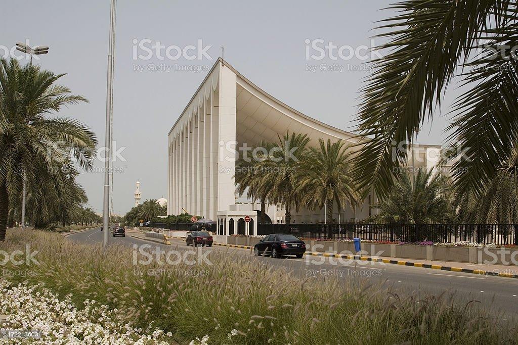 Kuwait parliament building stock photo
