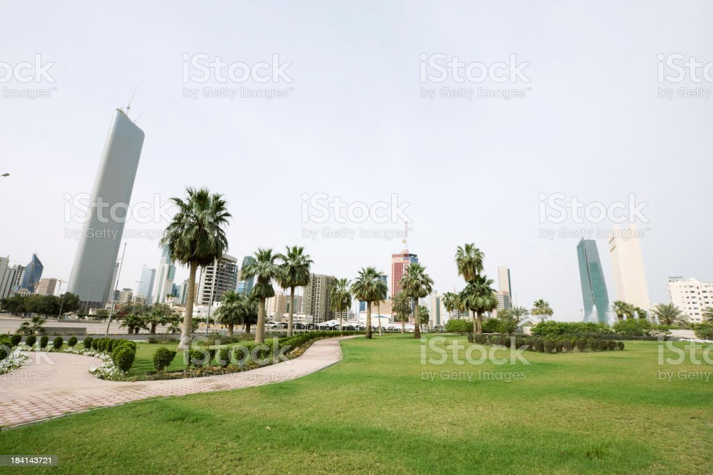 Kuwait skyline stock photo