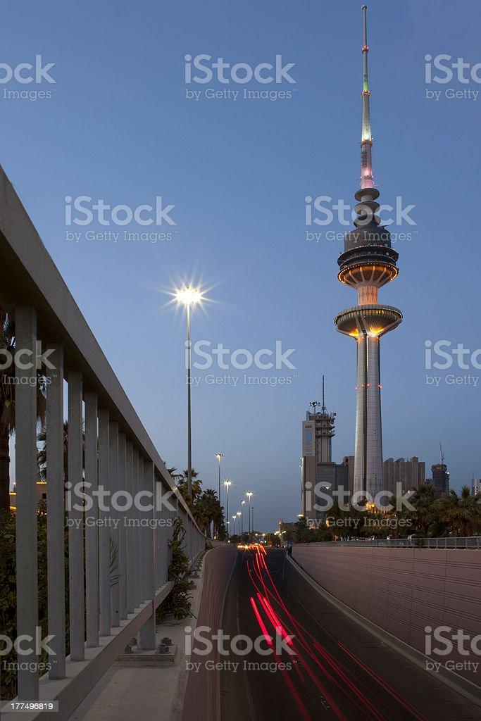 Kuwait Telecommunications Tower royalty-free stock photo