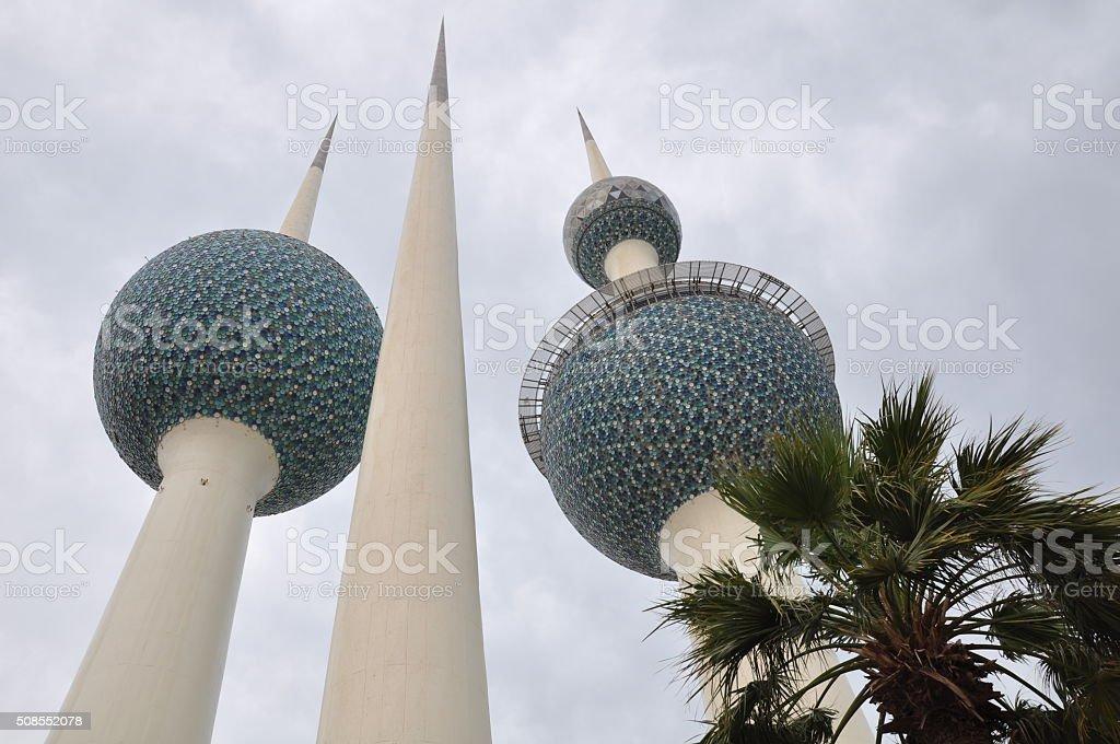 Kuwait Towers, Kuwait City, Kuwait stock photo