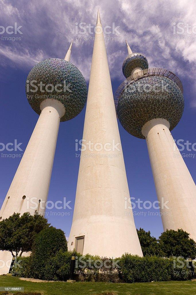 Kuwait Towers royalty-free stock photo