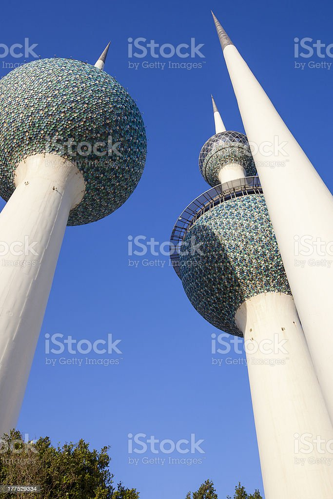 Kuwait Towers royalty-free stock photo