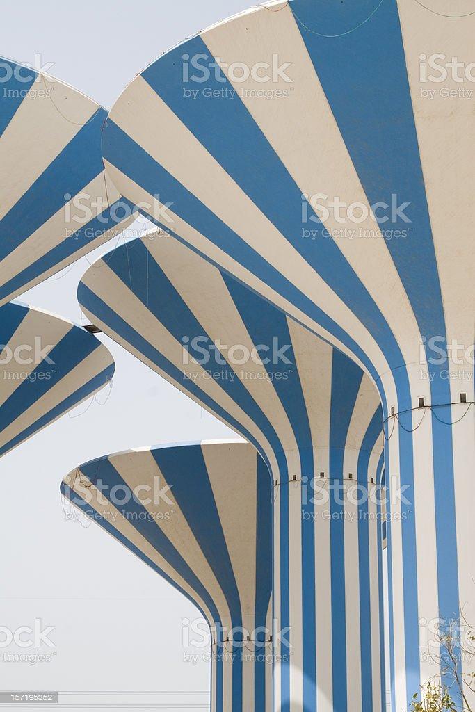 Kuwait watertowers royalty-free stock photo