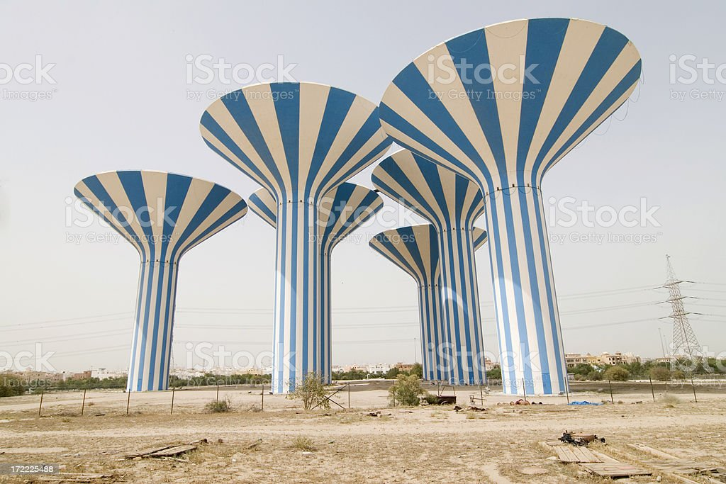 Kuwait watertowers royalty-free stock photo