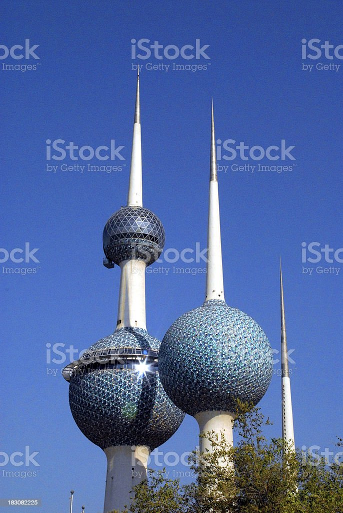 Kuwait-city: Kuwait towers stock photo