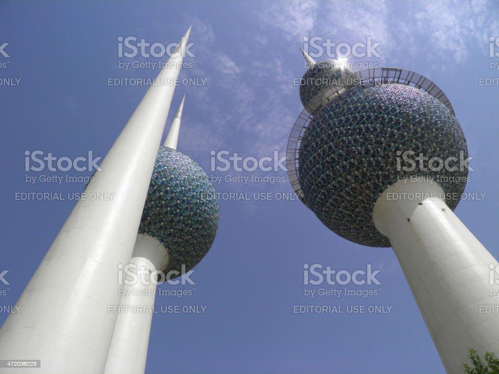 Kuwaiti Towers stock photo
