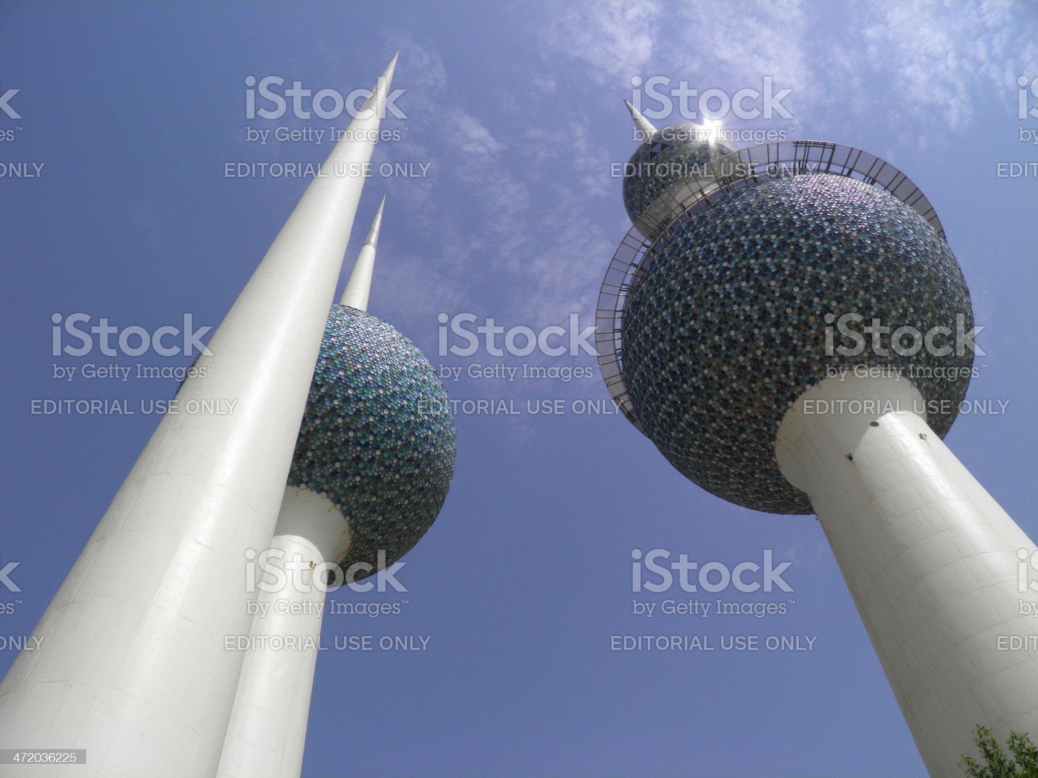 Kuwaiti Towers royalty-free stock photo