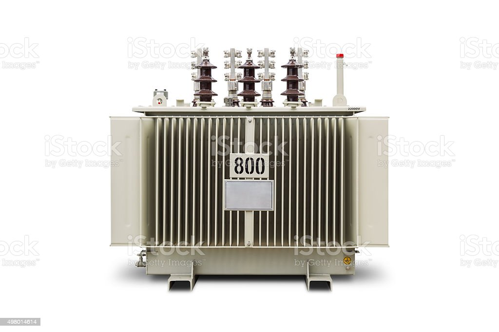 800 kVA Oil immersed transformer stock photo