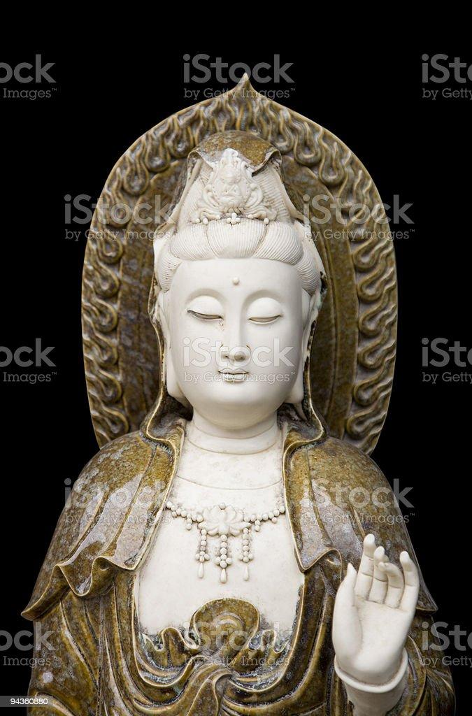 Kwan yin statue stock photo