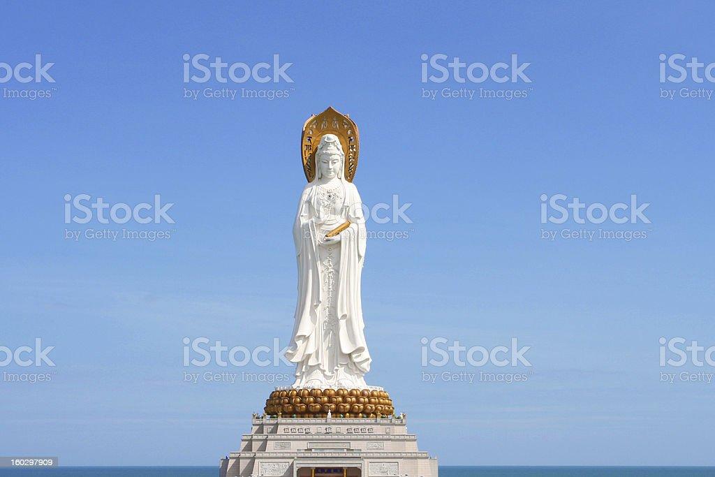 Kwan-Yin statue in Hainan stock photo