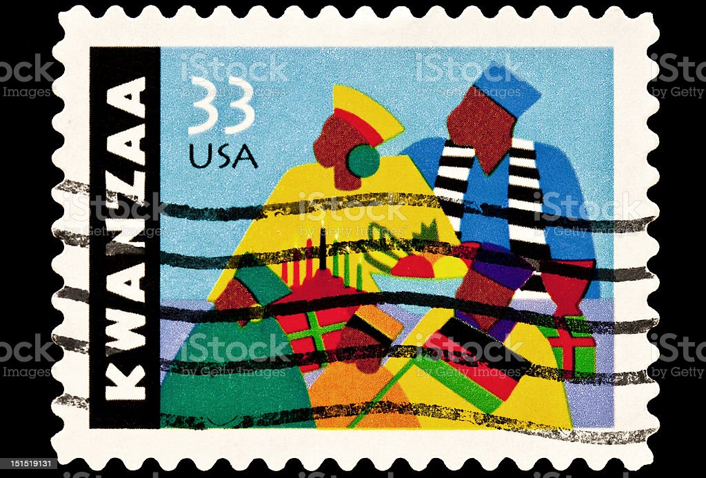 Kwanza Postal Issue stock photo