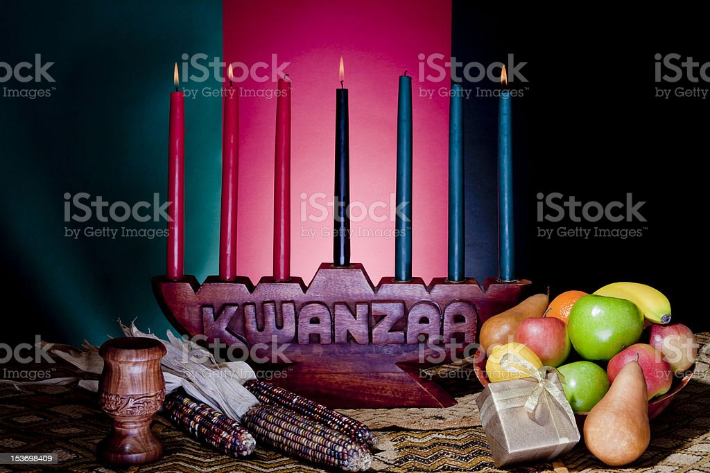 Kwanzaa - African American Holiday stock photo