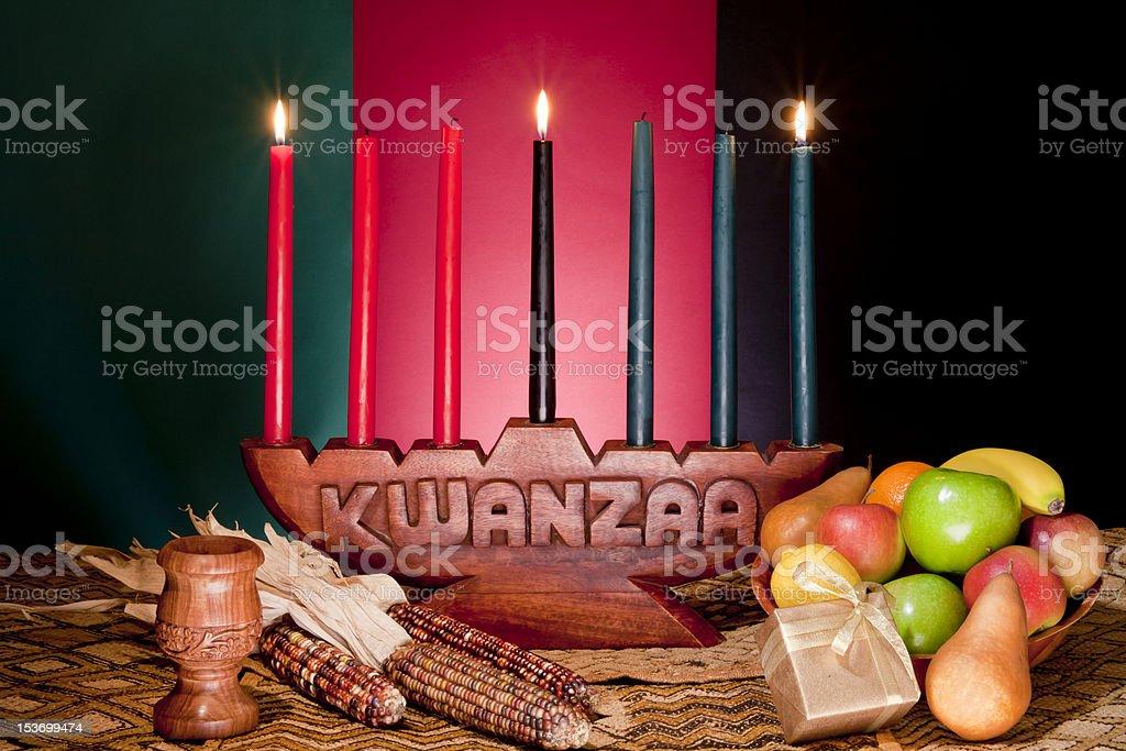 Kwanzaa - African American Holiday royalty-free stock photo