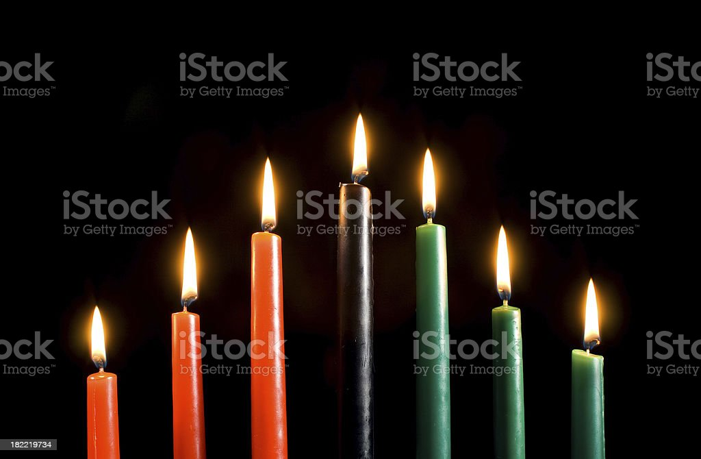 Kwanzaa Candles Only stock photo
