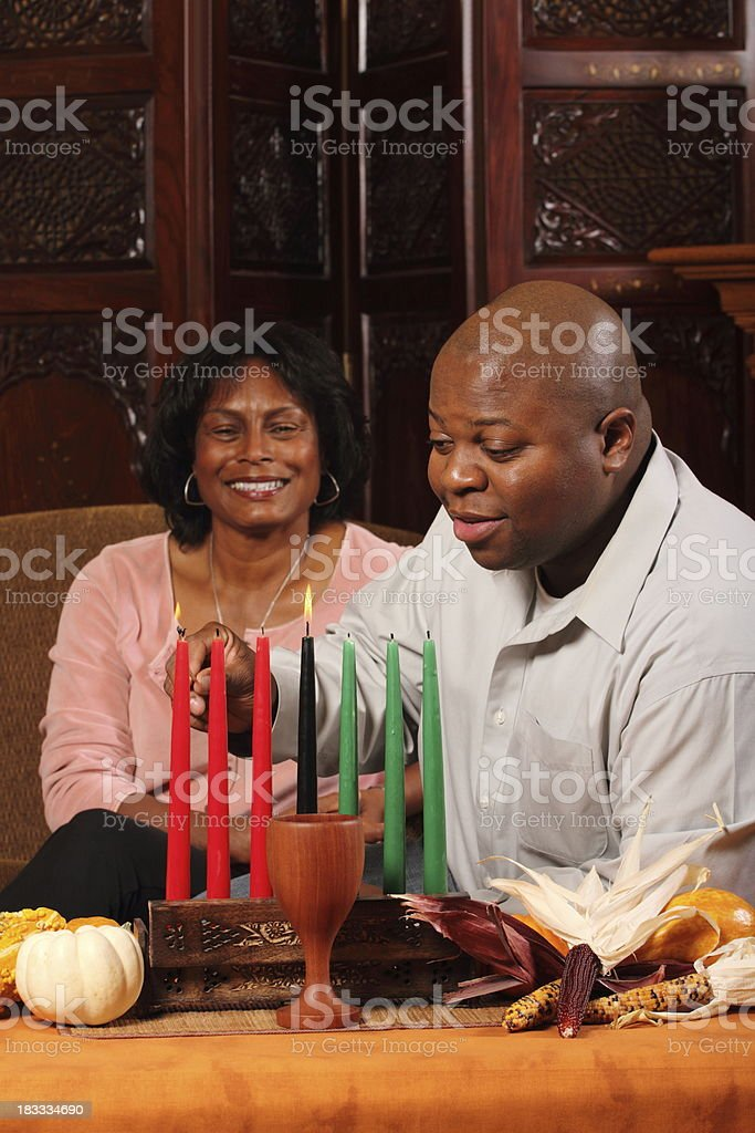 Kwanzaa Couple Verical royalty-free stock photo