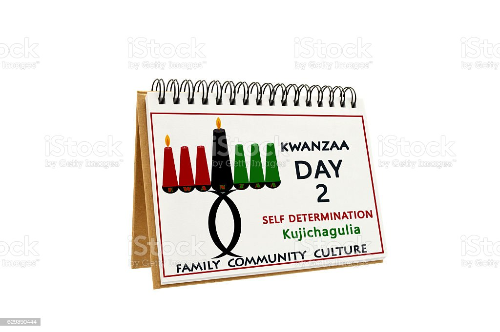 Kwanzaa Day 2 Calendar stock photo