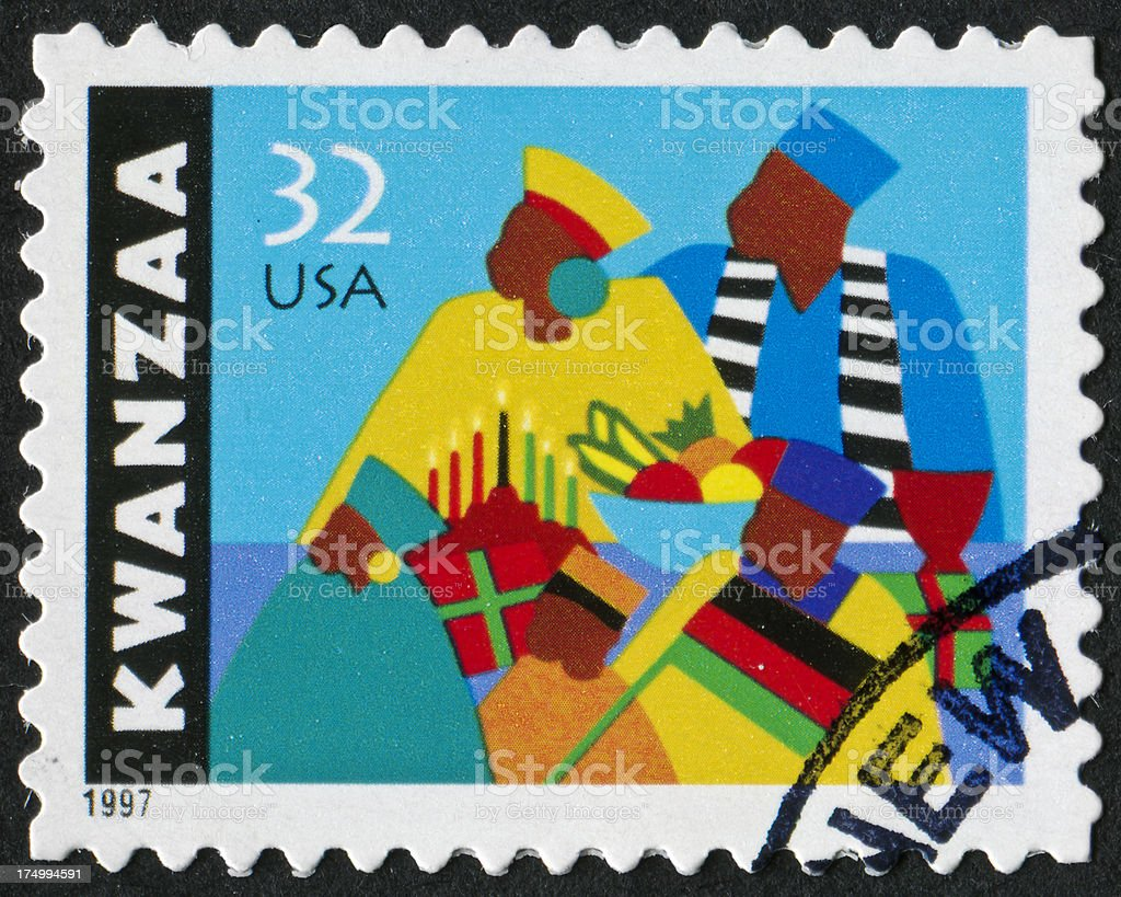 Kwanzaa Stamp stock photo