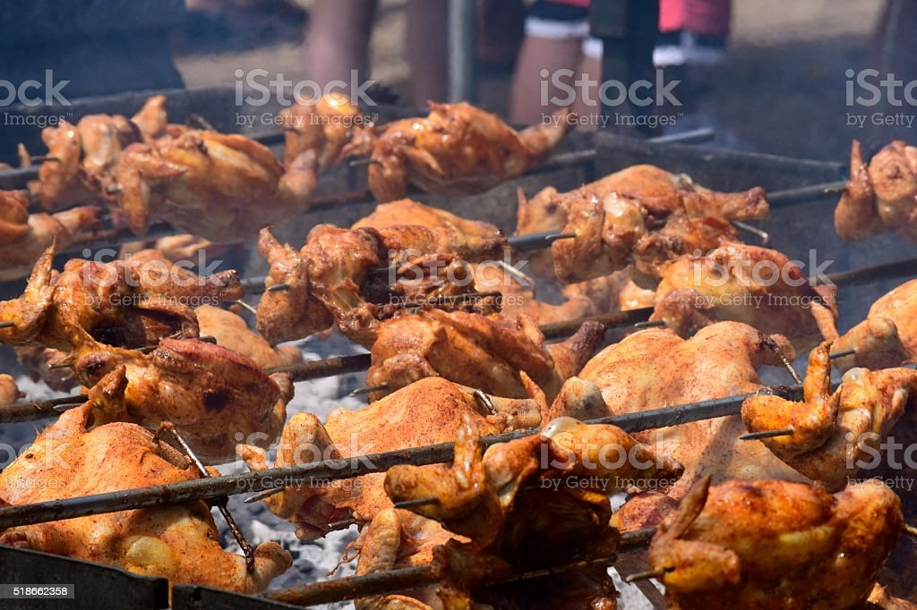 Kwave Chicken Barbecue stock photo