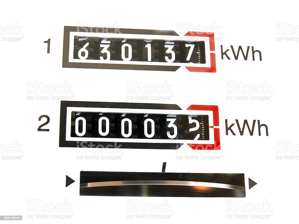 kWh  dial royalty-free stock photo