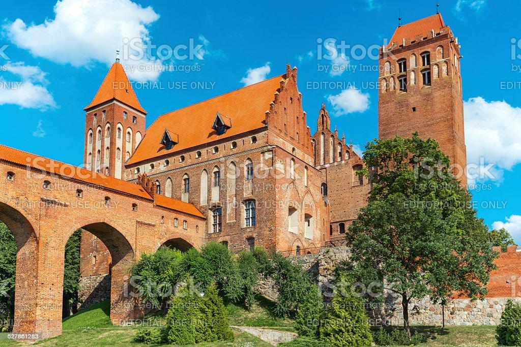 Kwidzyn castle stock photo