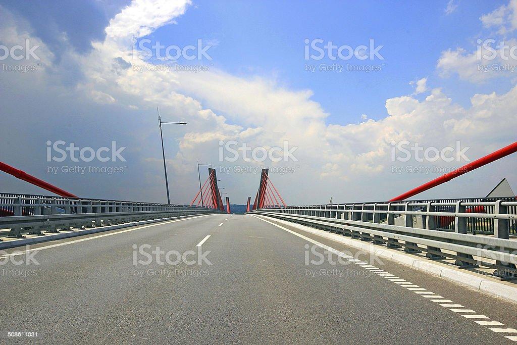 Kwidzyn, Poland - bridge over Vistula stock photo