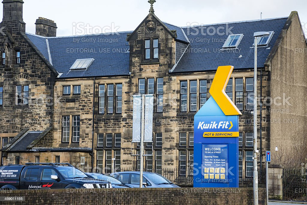 Kwik Fit Motor Service Centre stock photo