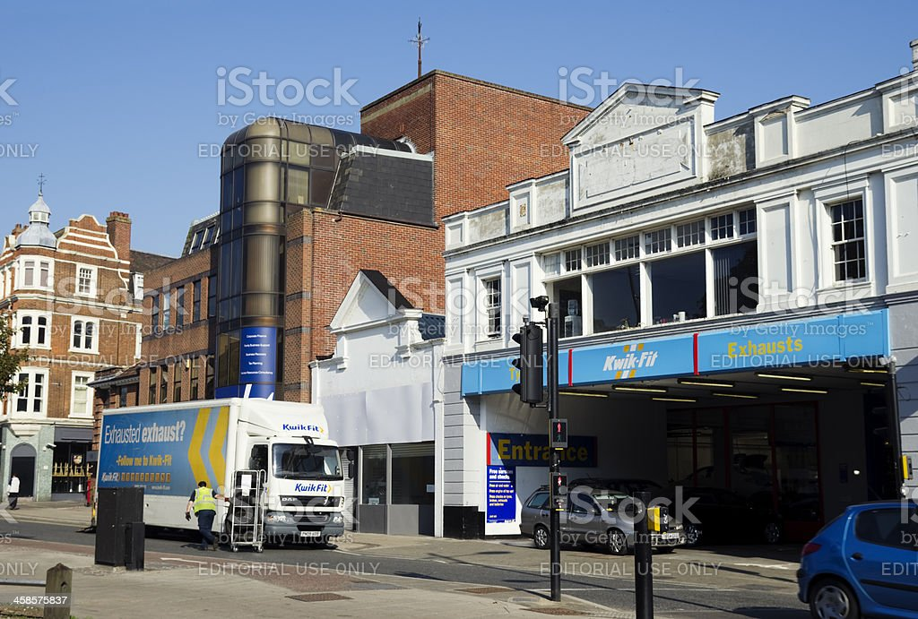 Kwik-Fit centre, Norwich stock photo