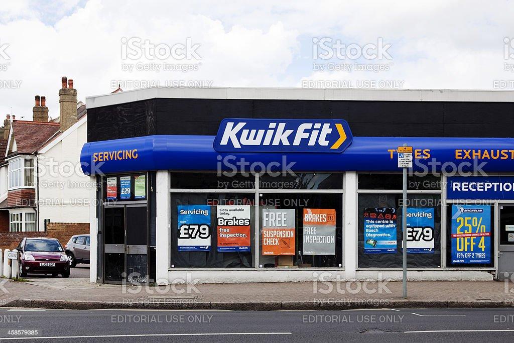 KwikFit service station stock photo
