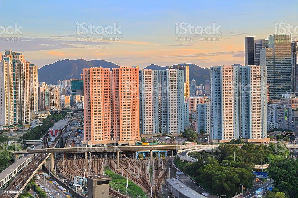 kwun tong, kowloon bay, hong kong stock photo