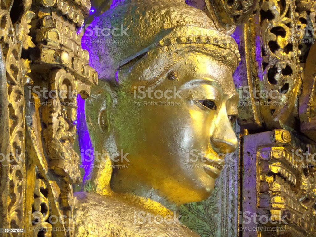Kyaikpawlaw Buddha Image, Kantkaw, Myanmar stock photo