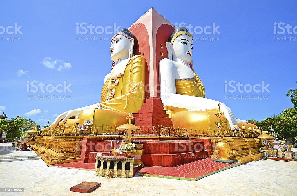 Kyaikpun Pagoda royalty-free stock photo