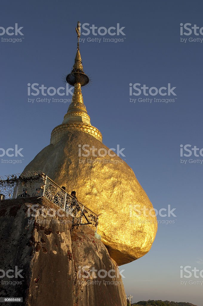 Kyaiktiyo Boulder Stupa royalty-free stock photo