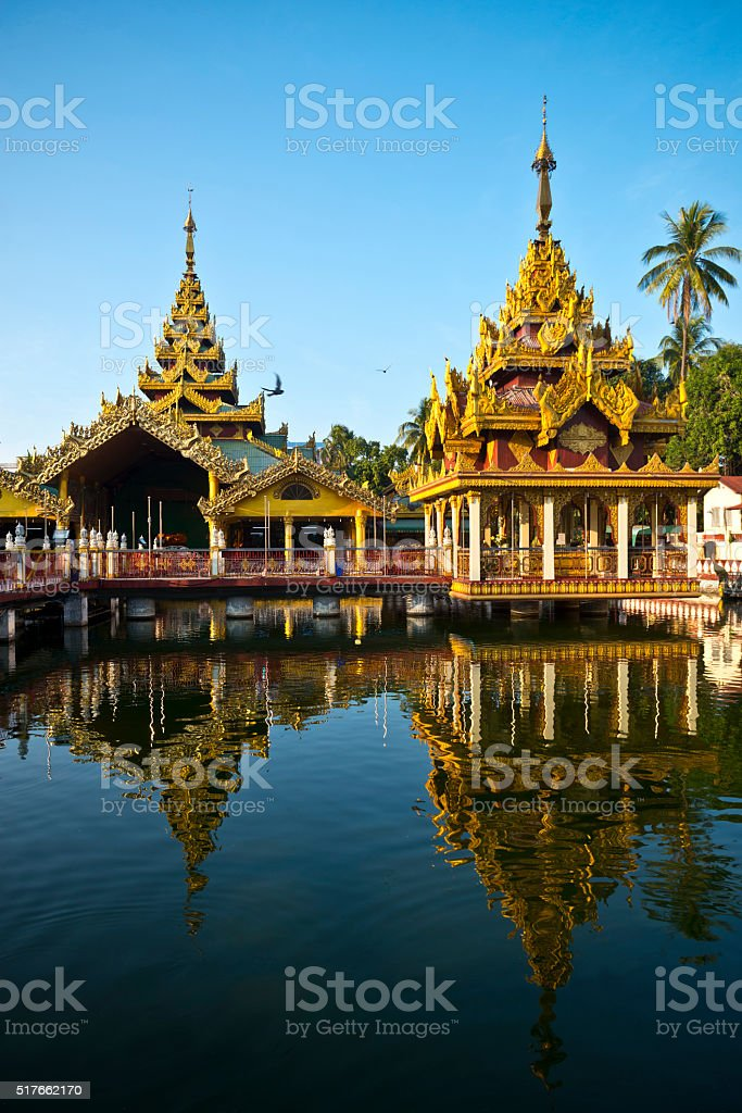 Kyay Thone Pagoda Yangon Myanmar stock photo