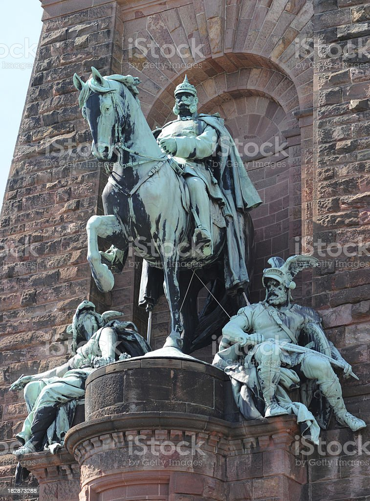 Kyffhäuser Monument with German Emperor William I, Odin and Germania stock photo
